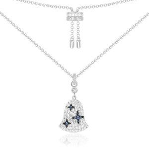 Jewelry - APM Monaco White & Blue Bell Adjustable Necklace